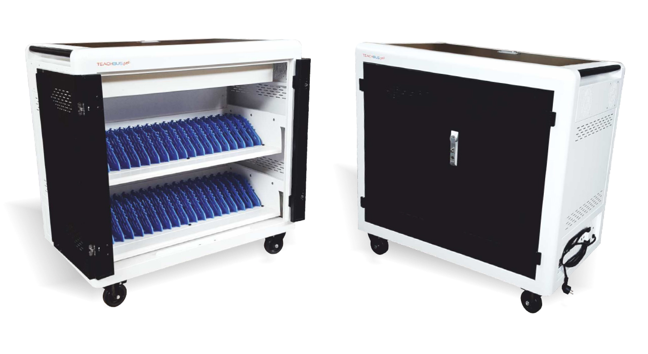 TeachBus One Plus: mobile charging/storage unit for notebook/tablet