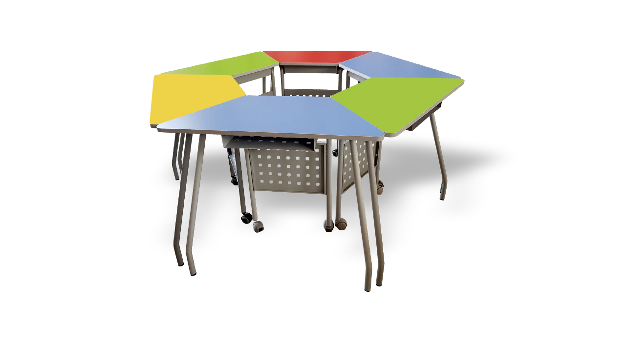 Trapezoid Bench for school and class 2.0